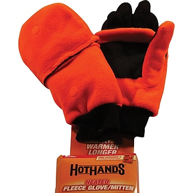 Heated Mitten, Blaze Orange, M/L
