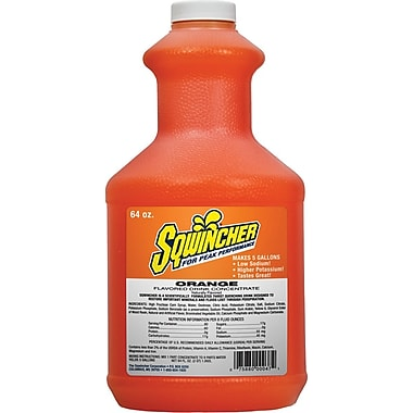 Sqwincher Concentrate, 64 oz, Orange Flavour, 6/Case