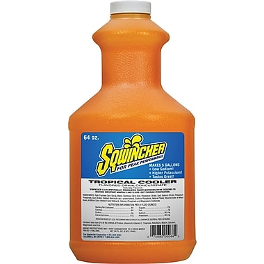 Sqwincher Concentrate, 64 oz, Tropical Cooler Flavour, 6/Case