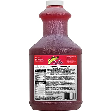 Sqwincher Lite Concentrate, 64 oz, Fruit Punch Flavour, 6/Case