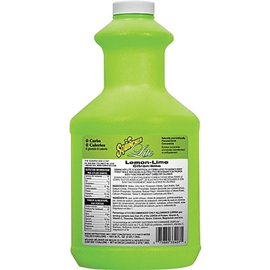 Sqwincher Lite Concentrate, 64 oz, Lemon-Lime Flavour, 6/Case