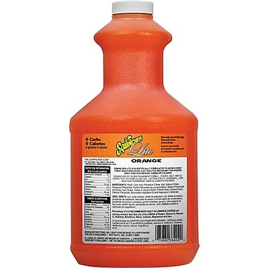 Sqwincher Lite Concentrate, 64 oz, Orange Flavour, 6/Case