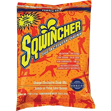 Sqwincher Powder Pack, 47oz., Orange, 16/Case