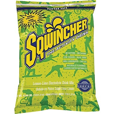 Sqwincher Powder Pack, 47 oz, Lemon-Lime, 16/Case