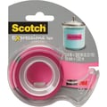Scotch Expressions Tape, Pink, Removable, 3/4in. x 300in. with Dispenser