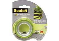 Scotch® Expressions Tape, Green, Removable, 3/4' x 300' with Dispenser