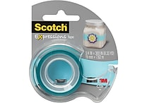 Scotch® Expressions Tape, Blue, Removable, 3/4' x 300' with Dispenser