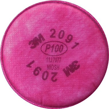 3M OH&ESD Particulate Filters, P100, Oil & Non-Oil Based Particles, 2/Pack