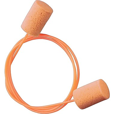 TASCO ThermaSoft30 PVC Foam Earplug, Corded, 100 Pairs per Box