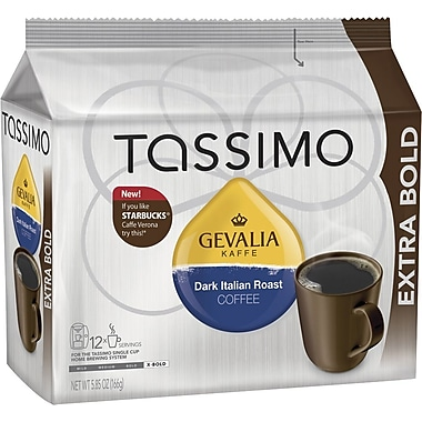 Tassimo Gevalia Dark Italian Roast Coffee, Regular, 12 T-Discs/Pack