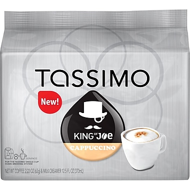 Tassimo King of Joe Cappuccino, 8 Creamer + 8 Espresso T-Discs/Pack