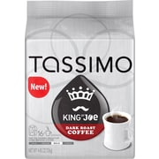 Tassimo King of Joe Dark Roast Coffee, 16 T-Discs/Pack