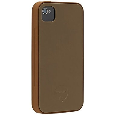 Ozaki® iCoat™ Two Tone Skin Silicone+ Case For iPhone 4/4S, Chocolate