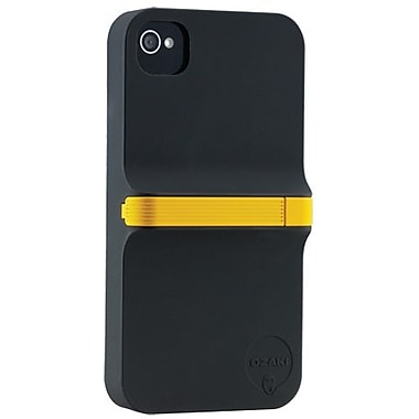 Ozaki® iCoat™ Grab & Write Finger Hard Case & Stylus For iPhone 4/4S, Black/Yellow