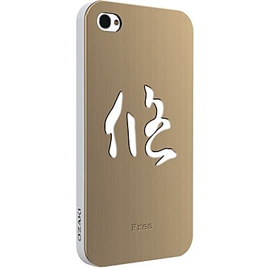 Ozaki® iCoat™ Good Life Zen Wisdom Free Metal Case For iPhone 4/4S, Gold