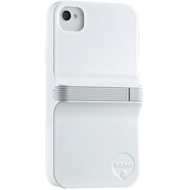 Ozaki® iCoat™ Grab & Write Finger Hard Case & Stylus For iPhone 4/4S, White/Gray
