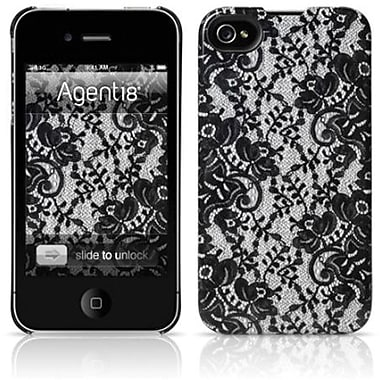 Agent18® Julia Hard Case For iPhone 4/4S, Black Lace
