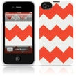 Agent18® Chevron Coral Hard Case For iPhone 4/4S