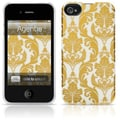 Agent18® SlimShield Limited Brocade Hard Case For iPhone 4/4S, Gold/White