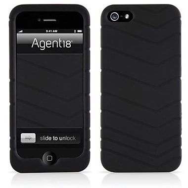 Agent18® Velocity Silicone Case For iPhone 5, Black