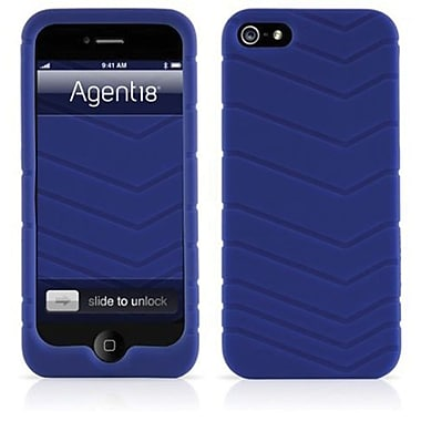 Agent18® Velocity Silicone Case For iPhone 5, Blue
