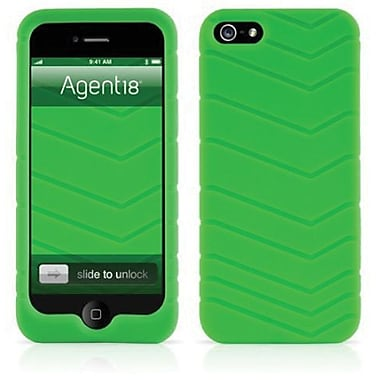 Agent18® Velocity Silicone Case For iPhone 5, Green