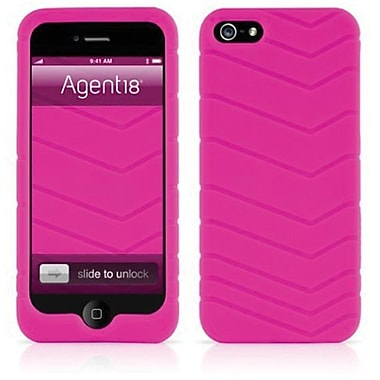 Agent18® Velocity Silicone Case For iPhone 5, Pink