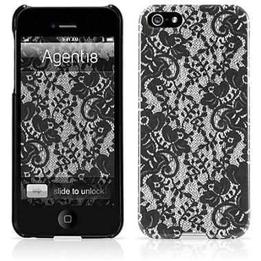 Agent18® SlimShield Limited Julia Hard Case For iPhone 5, Black Lace