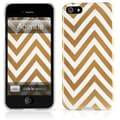 Agent18® Chevron Limited Hard Case For iPhone 5, Gold/White