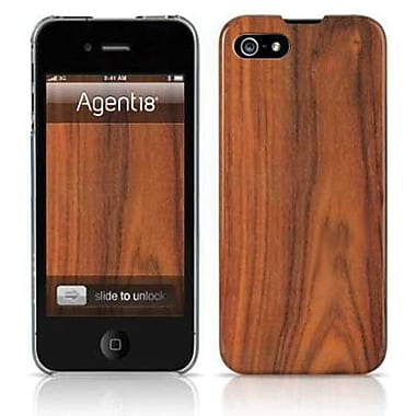 Agent18® SlimShield Limited Wood Hard Case For iPhone 5, Brown