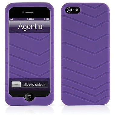 Agent18® Velocity Silicone Case For iPhone 5, Purple