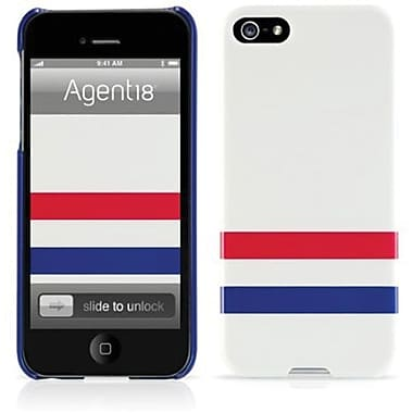Agent18® SlimShield Limited Varsity Hard Case For iPhone 5, Red/White/Blue