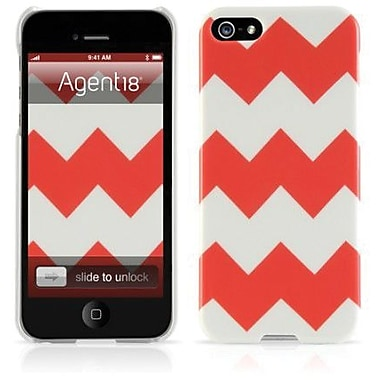 Agent18® Chevron Limited Coral Hard Case For iPhone 5