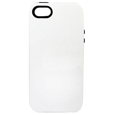 Sonix Inlay Half Moon Hybrid Case For iPhone 5, White/Black