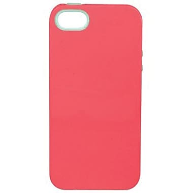 Sonix Inlay Capri Hybrid Case For iPhone 5, Coral/Mint