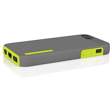 Incipio® DualPro Hard Shell Hybrid Case For iPhone 5, Charcoal Gray/Citron Yellow