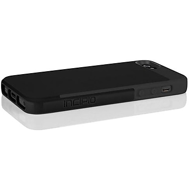 Incipio® Faxion Slim Flexible Hard Shell Hybrid Case For iPhone 5, Obsidian Black/Obsidian Black