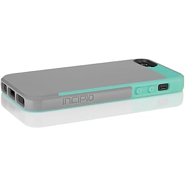 Incipio® Faxion Slim Flexible Hard Shell Hybrid Case For iPhone 5, Haze Gray/Navajo Turquoise