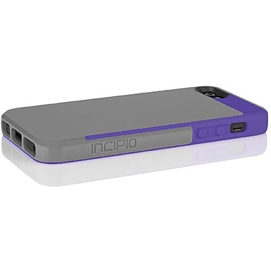 Incipio® Faxion Slim Flexible Hard Shell Hybrid Case For iPhone 5, Charcoal Gray/Royal Purple