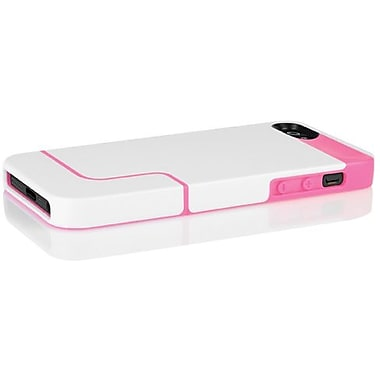 Incipio® EDGE PRO Co-Molded Hard Shell Slider Case For iPhone 5, Optical White/Hot Pink