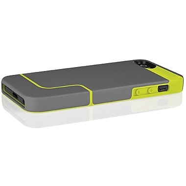 Incipio® EDGE PRO Co-Molded Hard Shell Slider Case For iPhone 5, Charcoal Gray/Citron Yellow