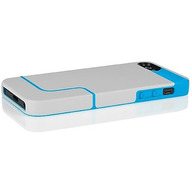 Incipio® EDGE PRO Co-Molded Hard Shell Slider Case For iPhone 5, Mist Gray/Cyan Blue
