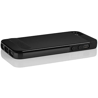 Incipio® OVRMLD Flexible Hard Shell Case For iPhone 5, Obsidian Black/Obsidian Black