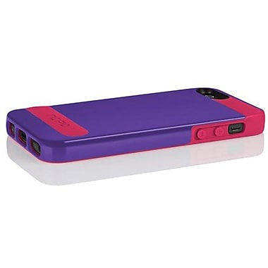 Incipio® OVRMLD Flexible Hard Shell Case For iPhone 5, Royal Purple/Cherry Blossom Pink
