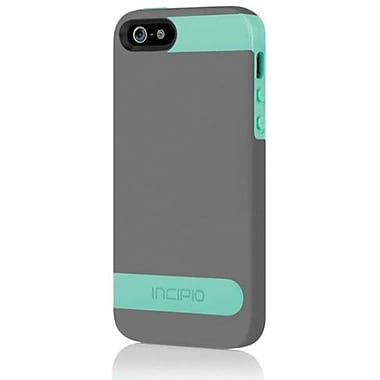 Incipio® OVRMLD Flexible Hard Shell Case For iPhone 5, Charcoal Gray/Navajo Turquoise