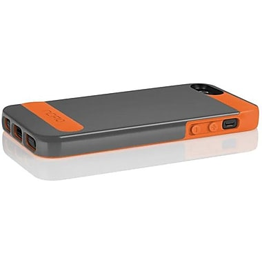 Incipio® OVRMLD Flexible Hard Shell Case For iPhone 5, Graphite Gray/Sunkissed Orange
