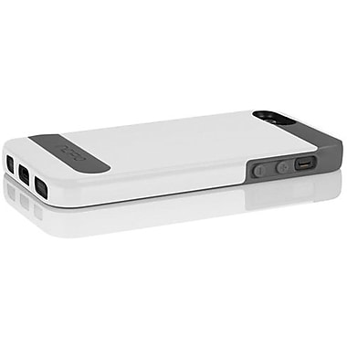 Incipio® OVRMLD Flexible Hard Shell Case For iPhone 5, Optical White/Charcoal Gray