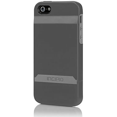 Incipio® Stashback Dockable Credit Card Case For iPhone 5, Graphite Gray/Haze Gray