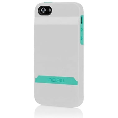 Incipio® Stashback Dockable Credit Card Case For iPhone 5, Optical White/Navajo Turquoise
