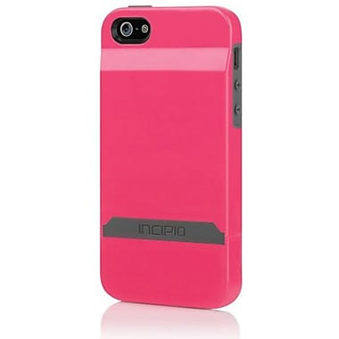 Incipio® Stashback Dockable Credit Card Case For iPhone 5, Cherry Blossom Pink/Charcoal Gray